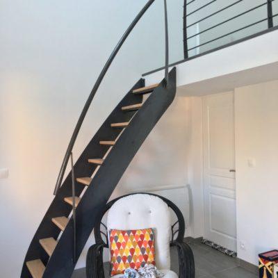 Escalier meunier : fabrication EC Design Vendôme