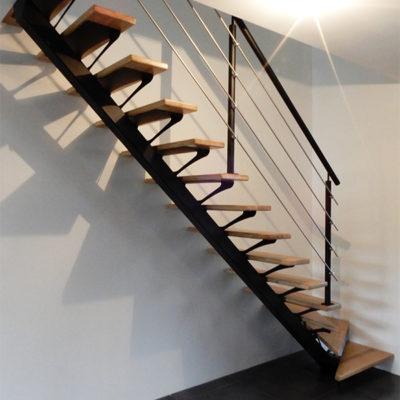 escalier bois métal inox vendôme