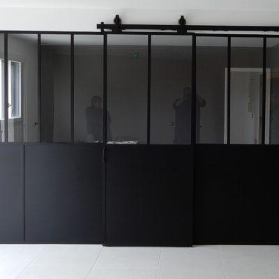 Verrière EC Design avec portes coulissantes
