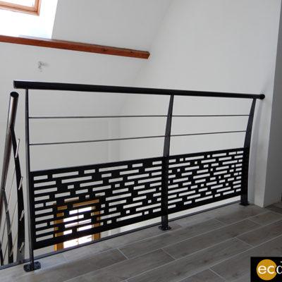 escalier 1/4 tournant avec garde corps sur mesure