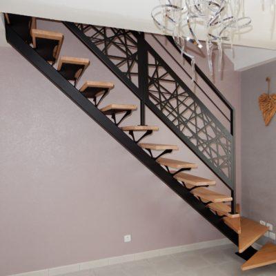Escalier design avec rampe graphique - EC Design Vendôme