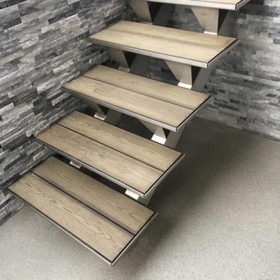 escalier extérieur et rampe inox