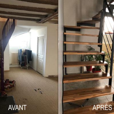 avant après escalier