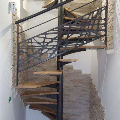 Colimaçon design bois et métal par EC Design fabricant escaliers Loir et Cher