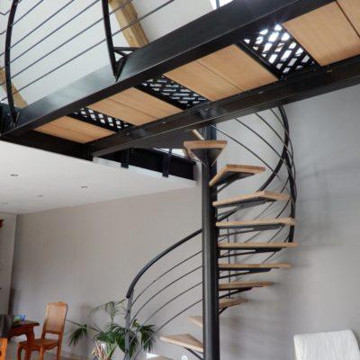 Passerelle bois métal fabriquée par EC Design Vendôme
