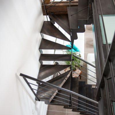 escalier et passerelle métal verre EC Design fabricant d'escaliers et passerelles à Vendôme Loir-et-Cher