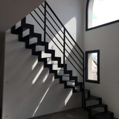 escalier limon crémaillère métal fabricant escaliers Loir-et-Cher Vendôme