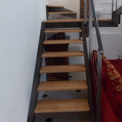 Escalier bois métal sur mesure Fabricant escaliers Vendôme Loir et Cher