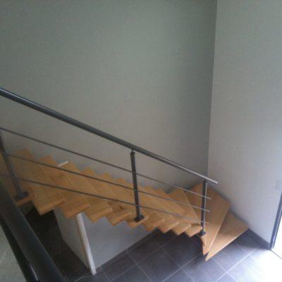 Escalier bois métal quart tournant fabricant d'escalier Vendôme Loir et Cher