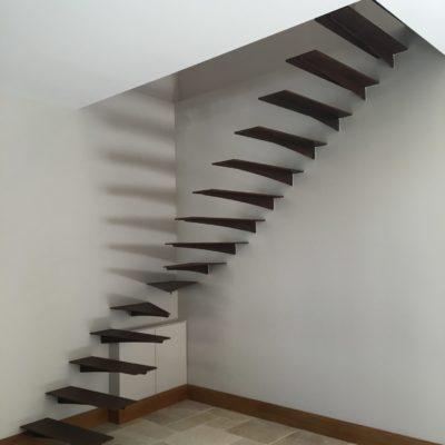 Escalier métal rouillé encastré EC Design fabricant d'escaliers encastré Loir-et-Cher Vendôme