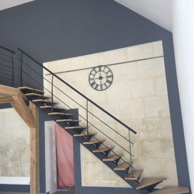 Escalier bois métal fabricant escaliers Loir-et-Cher Vendôme