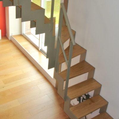 escalier métal laqué beige fabricant escaliers Loir-et-Cher Vendôme