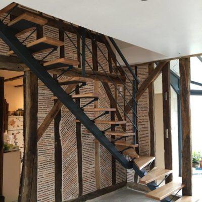Fabricant escalier bois métal Loir-et-Cher Vendôme EC DESIGN