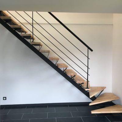 Escalier bois métal sur-mesure loir et cher Fabricant escalier design Loir-et-Cher Vendôme Tours Blois EC DESIGN