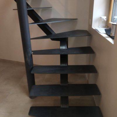 escalier métal laqué fabricant escaliers Loir-et-Cher Vendôme