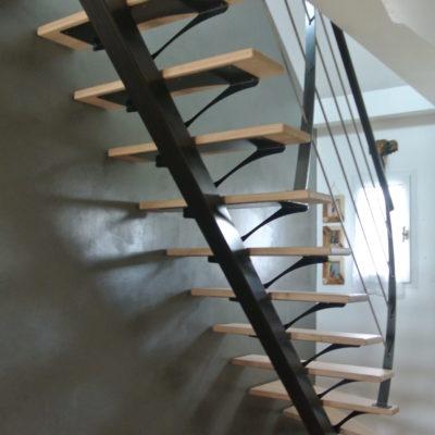Escalier design bois métal fabricant escaliers Loir-et-Cher Vendôme