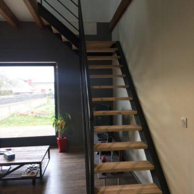 escalier quart tournant rivets apparents fabricant escaliers Loir-et-Cher Vendôme