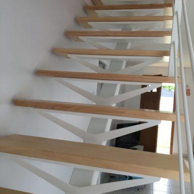 Escalier blanc design fabricant loir et cher Vendôme EC Design