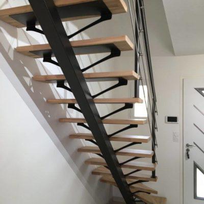 Escalier bois métal fabrication française EC Design Vendôme