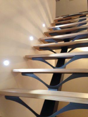 Escalier design leds bois métal Fabricant escaliers Loir-et-Cher Vendôme Tours Blois EC DESIGN