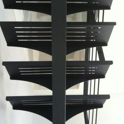 Zoom marches escalier métal fabricant d'escalier Loir-et-Cher Vendôme