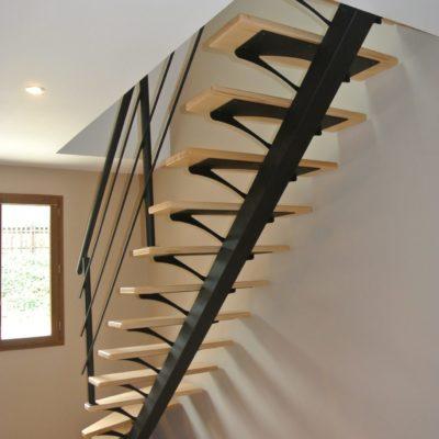 Fabricant d'escalier bois métal limon central garde corps Vendôme Loir et Cher