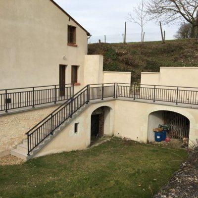 balustrade extérieur artisan ferronerie loir et cher Vendôme - EC DESIGN