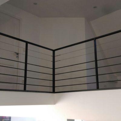 garde corps cable et tubes métal noir artisan loir et cher EC design vendôme