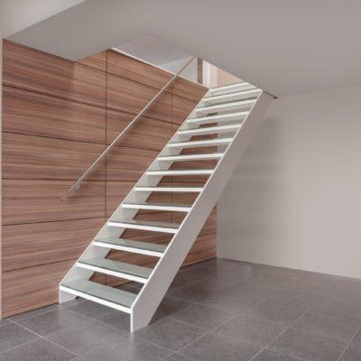 escalier moderne blanc fabricant d'escalier Loir-et-Cher Vendôme Graah