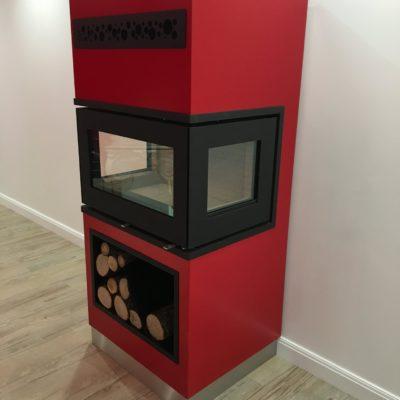 Habillage de cheminée en métal - EC Design Vendôme Loir et cher artisan métallier