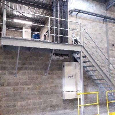 escalier industriel métal blois