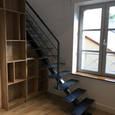 escalier métal brut vendome