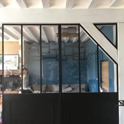 verrière porte et étagères ecdesign