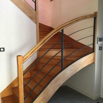 Rénovation escalier bois avec l'autrement déco à Vendôme