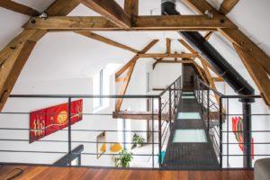 Escalier bois métal - passerelle mezzanine EC Design fabricant d'escaliers et passerelles à Vendôme Loir-et-Cher