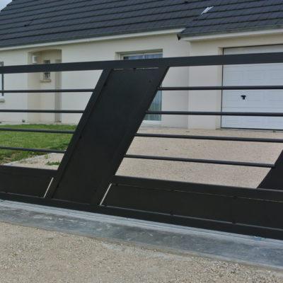 portail design en acier artisan vendome EC Design Vendôme Loir-et-Cher