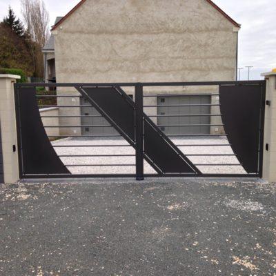 portail métal design vendome EC Design Vendôme Loir-et-Cher
