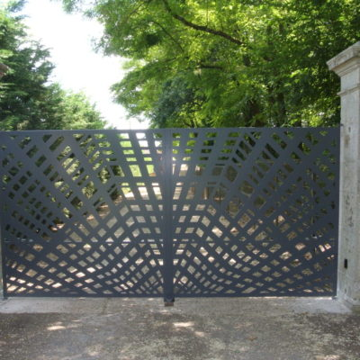 portail métal à motifs sur mesure EC Design Vendôme Loir-et-Cher