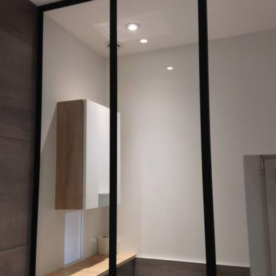 verrière séparation salle de bain wc EC Design Vendôme Loir-et-Cher