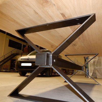 Table acier Tours 2