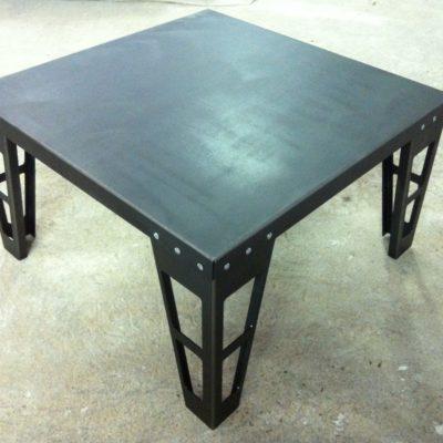 Table basse noire métal - artisan fabricant de mobilier loir et cher Vendôme EC Design