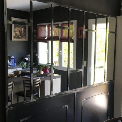 Verrière d'atelier miroir fabrication artisanale loir et cher ec design vendome